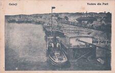 ROMANIA - Galati - Vedere din Port 1919