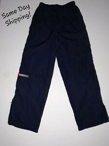 EVERLAST SPORT Boys Athletic Pants NAVY BLUE Zippered Bottom Activewear XL 14/16