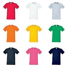 Fruit of the Loom Men's Crew Neck No Pattern Cotton Blend T-Shirts