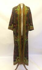 Vintage Orig 60s 70s Dutch Batik Print Kaftan Hippy Boho Ibiza Goa Size 12 14