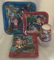NEW Disney Jake & The Neverland Pirates Party Ware Plates Napkins & Cups Set 8