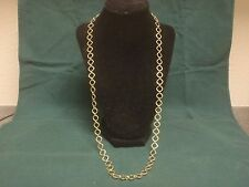 "UNIQUE 14k SOLID YELLOW GOLD DESIGNER 30"" CHAIN LINK NECKLACE-  27.2 GRAMS"