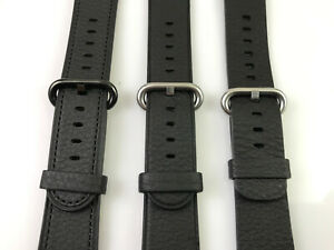 Original Genuine Apple Watch Classic Buckle leather band 38MM 40MM Black strap