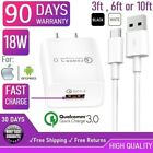 18W Fast Wall Charger & Type-C USB Cable For iPad Pro 2,3,4 12.9, Air 4th gen[Q3