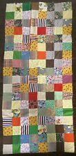 Vintage Quilt Top With One Novelty Fabric Specifically Circus Textile