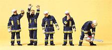 HO 1:87 Preiser 10486 German Firemen Firefighters ( Technical Support ) Figures