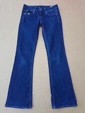 E274 Mujer G-Star Raw Bootleg Azul Denim Jeans ajustados Corte De Bota Pierna M 10 W27 L32