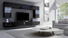 Modern White Living Room 6 Pcs Furniture Set Fronts In High Gloss Tv Unit Led