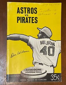 World Champs Pittsburgh v  Houston Astros 1971+ Old Timers Game Insert DiMaggio
