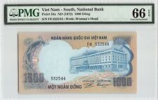 South Vietnam ND (1972) P-34a PMG Gem UNC 66 EPQ 1000 Dong