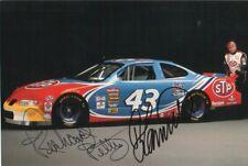 Richard Petty & Bobby Hamilton Autographed Photo NASCAR Legends D.07