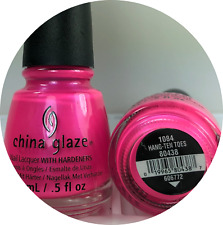 China Glaze Nail Polish * Hang-ten Toes 1084 Vibrant Bright Neon Pink Lacquer