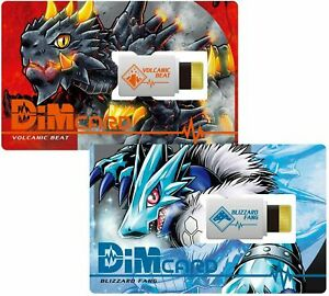 Digimon Vital Bracelet Dim Card Set VOLCANIC BEAT & BLIZZARD FANG New From Japan