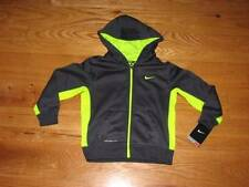 NEW NIKE THERMA-FIT Little Boys Sweatshirt Full Zip Up Hoodie Size 4 S Grey