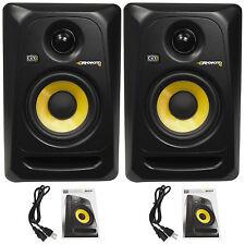 "(2) KRK RP4G3 RP4-G3 Rokit Powered 4"" Inch Studio Reference Monitor Speakers"