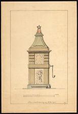 Antique Drawing-PUMP-AMSTERDAM-DESIGN-Springer-1887