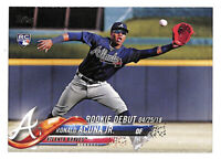 2018 Topps Update US252 Ronald Acuna Jr Rookie Debut RC card Braves