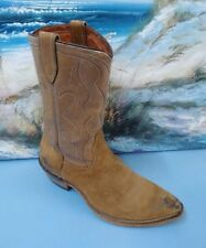WOMENS ACME COWBOY SUEDE LEATHER LIGHT BROWN BOOTS SIZE 6 D STYLE L722