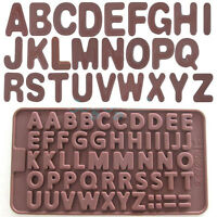 NEW Silicone Cake Letter Alphabet Mould Chocolate Fondant Cookies Ice Mold