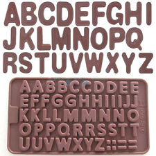 Letter Alphabet Silicone Cake Mould Chocolate Fondant Cookies Ice Mold  384HC