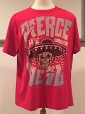 PTV PIERCE THE VEIL Skull Sombrero Mexican Red T Shirt My Chemical Romance XL