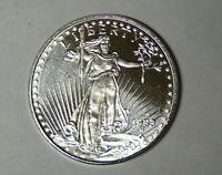 1 oz .999 Fine Silver Round 1933 Saint Gaudens Double Eagle Design (pk.rm)
