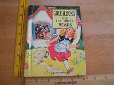 Goldilocks and the Three Bears 1938 Little Big Color Classics book 802