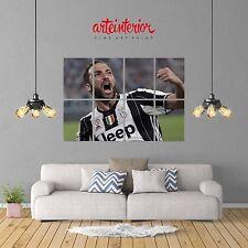 JUVENTUS Gonzalo Higuaín POSTER GIGANTE 131x91 cm Stampa FINE ART Wall Print HR