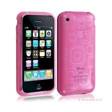 Housse étui coque en gel transparent pour Apple Iphone 3G/3Gs motif carré couleu