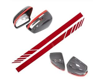 Mercedes Benz AMG Side Mirror Stickers/Decals in RED for W205, W204, W117, W176