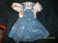 Dorothy Wizard of Oz Sequined Blue Checked Dress/Bow Sz Sm (4-6}/New