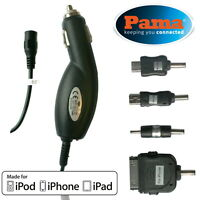 PAMA Universal Car Charger Nokia, Micro USB Mini USB, Apple 30 Pin Black Corded