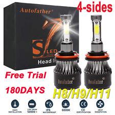 S7 H11 H9 H8 LED CREE Headlight Bulb Kit Low Beam Fog Light 60W 6000K 7600LM