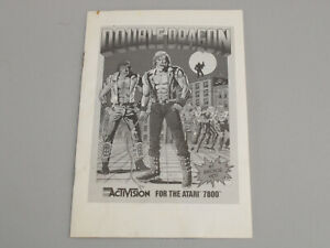 Double Dragon Atari 7800 Instruction Manual - Original 1989 Activision