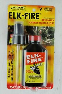 Wildlife Research Center Elk Fire Hunting Scent Attract Bulls Cow Urine 4 oz NEW