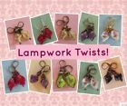 LAMPWORK TWIST with swirl ROSE Leverback Choose your color