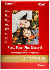 Papel Canon PP-201 265g A4 Papel Fotográfico Plus Glossy II (20 Hojas)