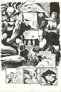 TOM MANDRAKE MARTIAN MANHUNTER #28 P. 11 ORIGINAL ART!