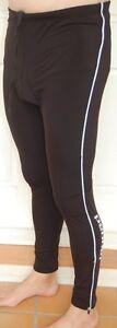 Jaggad Long Cycling Fleece Tights Knick Pants Bike Mens Ladies S M L XL XXL #96