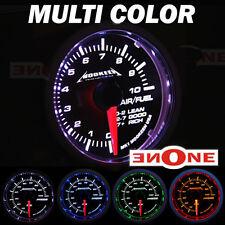"""Mookeeh 2 1/16"""" Black 4 Color Air/Fuel Meter Gauge"""