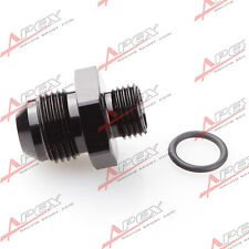 -8 AN 8AN Male Flare To -6 AN AN6 Straight Cut O-Ring Fitting Black
