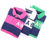 Aeropostale Men Stripe Jersey Logo A87 Polo Shirt style 7903 $0Ship