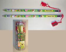 24 GIANT Spongebob Squarepants JUMBO Pencils with Sharpeners