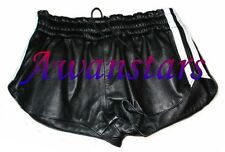 AW540 SPORTS LEATHER SHORTS WITH LEATHER STRIPES,HOTPANTS ledershorts