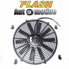 "14"" BLACK UNIVERSAL 12V SLIM PUSH/PULL ELECTRIC RADIATOR COOLING FAN 1730 CFM"