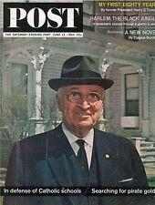Saturday Evening Post June 13 1964 Harlem the Black Jungle Harry S Truman