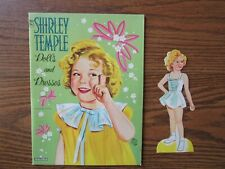 Shirley Temple paper doll, vintage, 20 pcs of clothing, folder