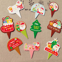 50pcs Christmas Cake Wedding Party Paper Favor Gift Card Label Tags 10 Designs