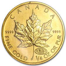 2000 Canada 1/4 oz Gold Maple Leaf BU - SKU #83465