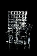 NEW ACRYLIC SPINNING ROTATING MAKEUP LIPSTICK POWDER ORGANISER TOWER STORAGE